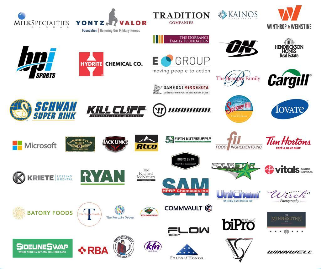 Hendrickson Foundation Hockey Festival sponsors