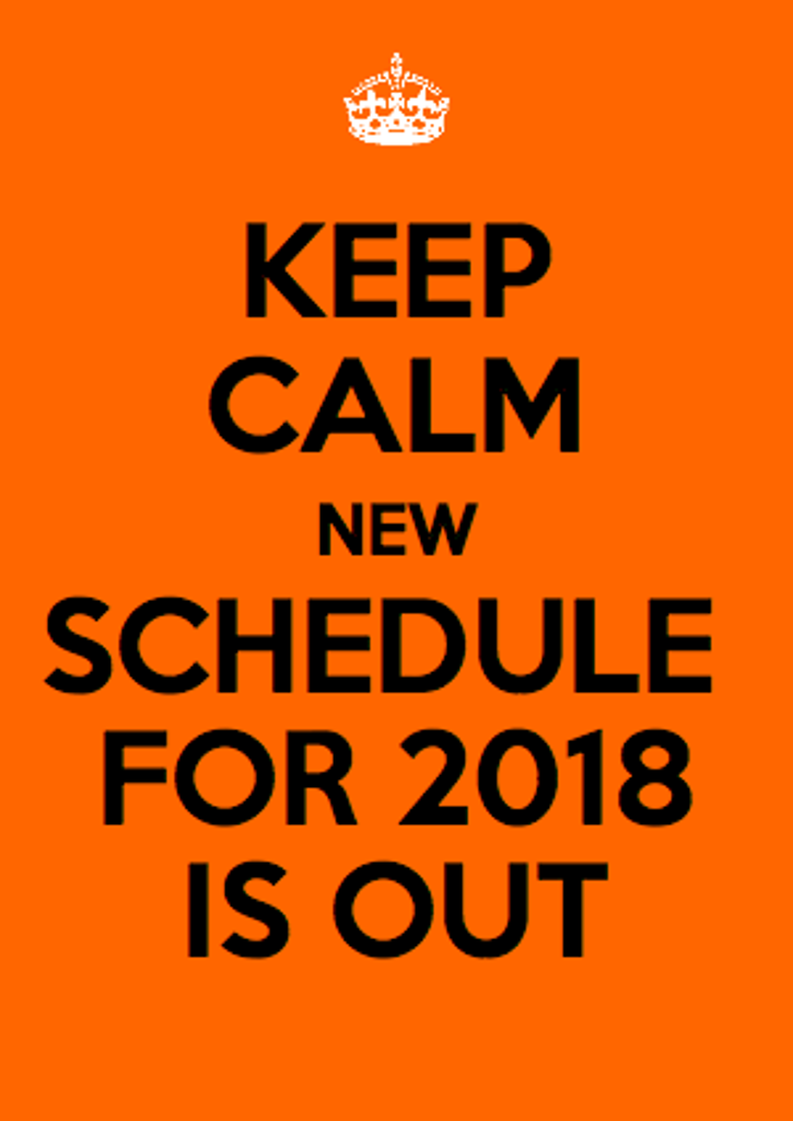 2018 Banshee Schedule
