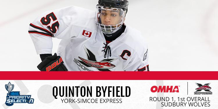 Byfield, Vierling go Top Two, Lead OMHA in OHL Draft