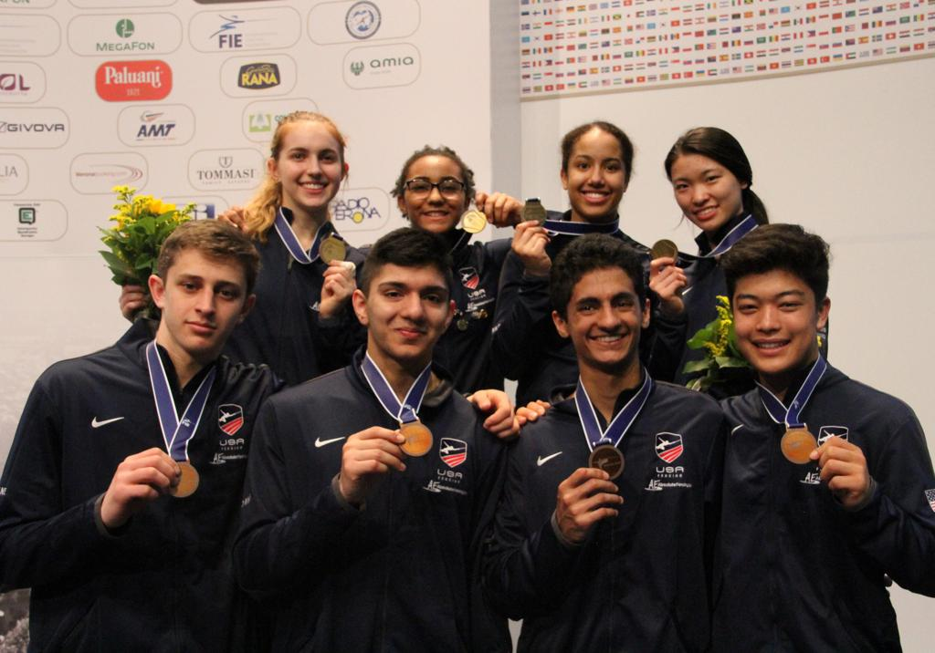 4b89b487d0b Team USA Wins Junior and Cadet World Medal Count with Team Foil Gold and  Bronze