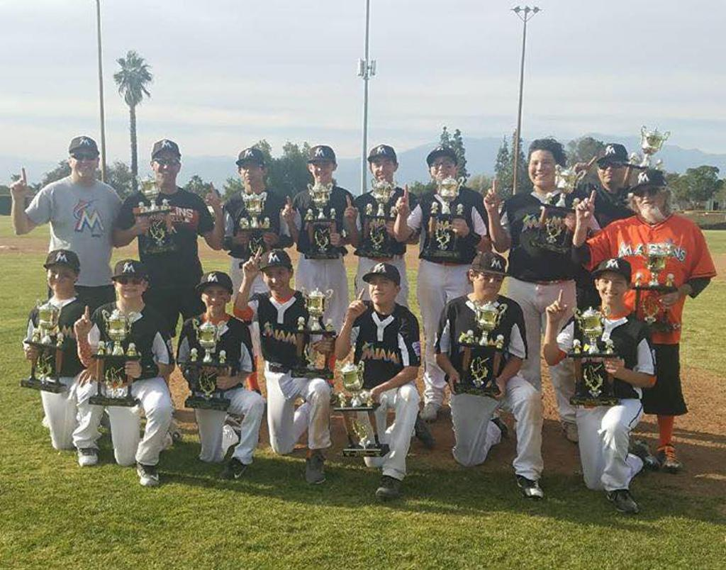 Congrats to the Jr Marlins for winning the Championship in the Wood Bat Tournament