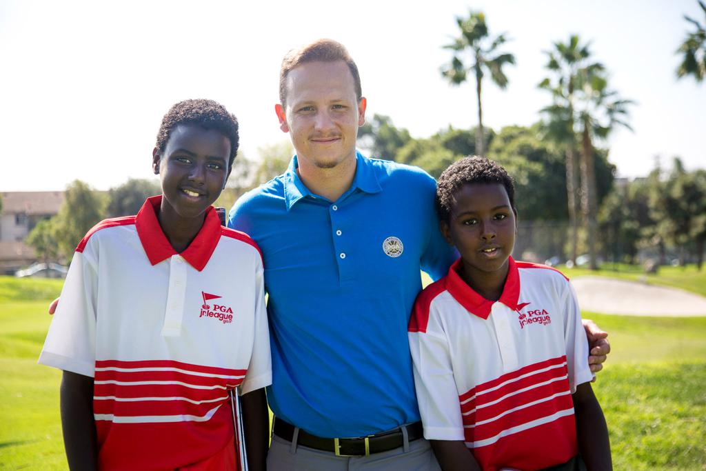 Duchene with brothers Zubeyr and Abdullahi Mohamed