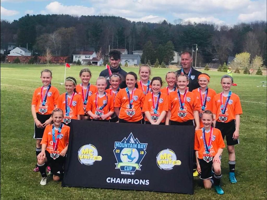 Oregon U11G Orange: Tournament Champions - Mountain Bay Cup - May 6, 2018
