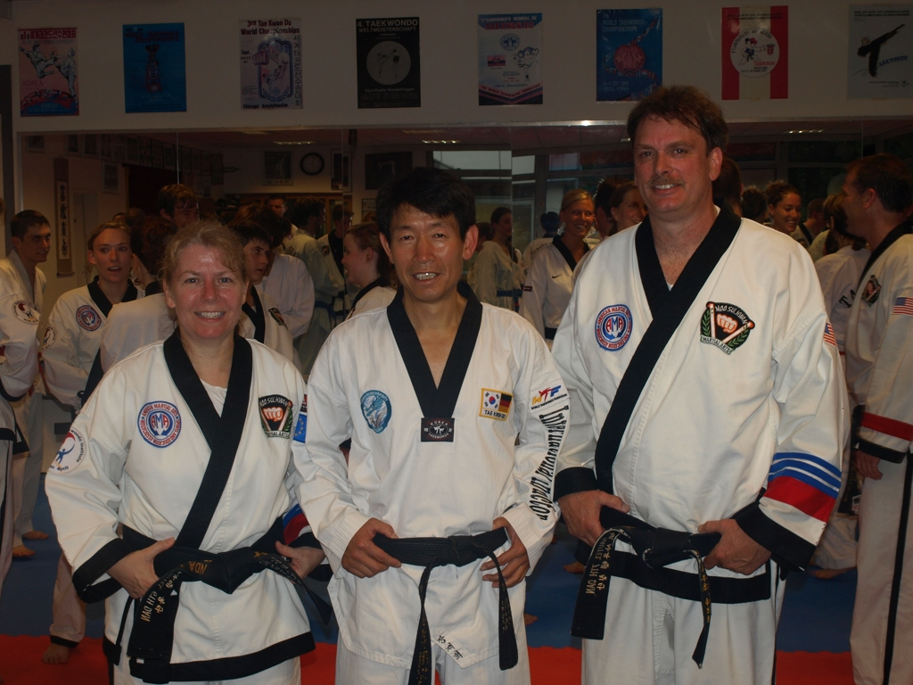 With Grandmaster Chang Jae-Hee and Master Mindy Sautel in Munich, 2011.