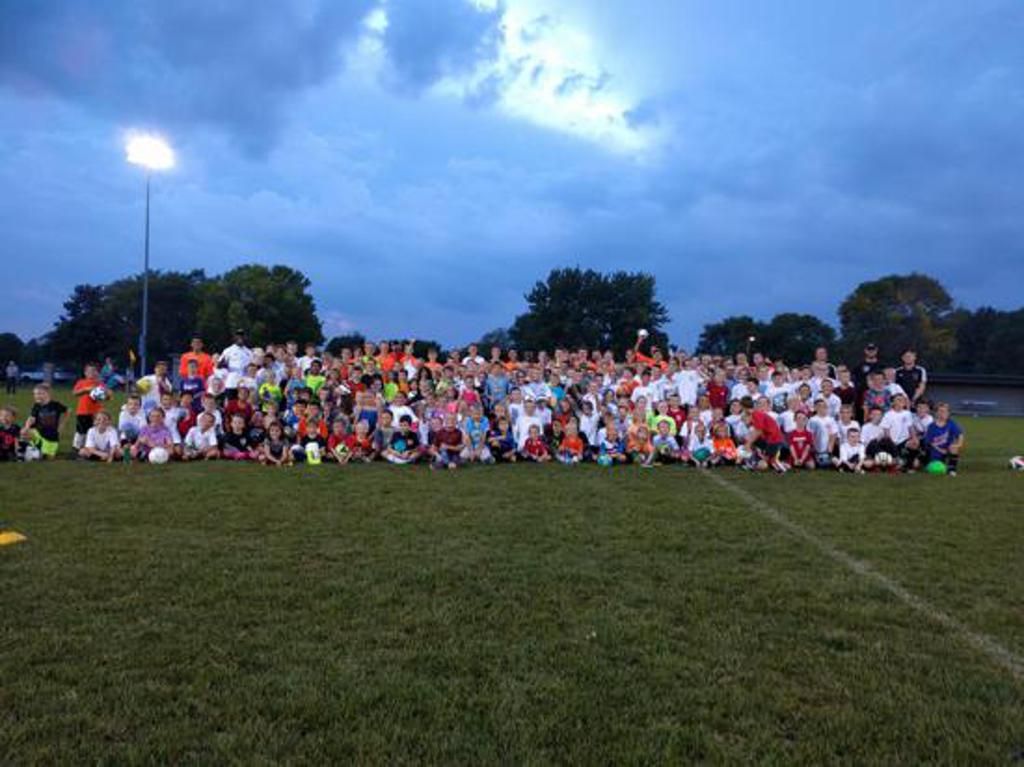 Nearly 250 Oregon SC players took part in the Oregon High School Boys Soccer Mini-Clinic in September 2017.
