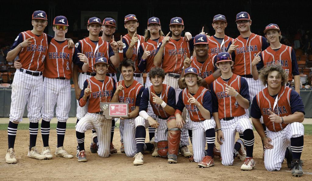 The Helena Senators poise with their trophy after winning the Keith Sell Tournament on Monday. Gary Marshall/BMGphotos.com