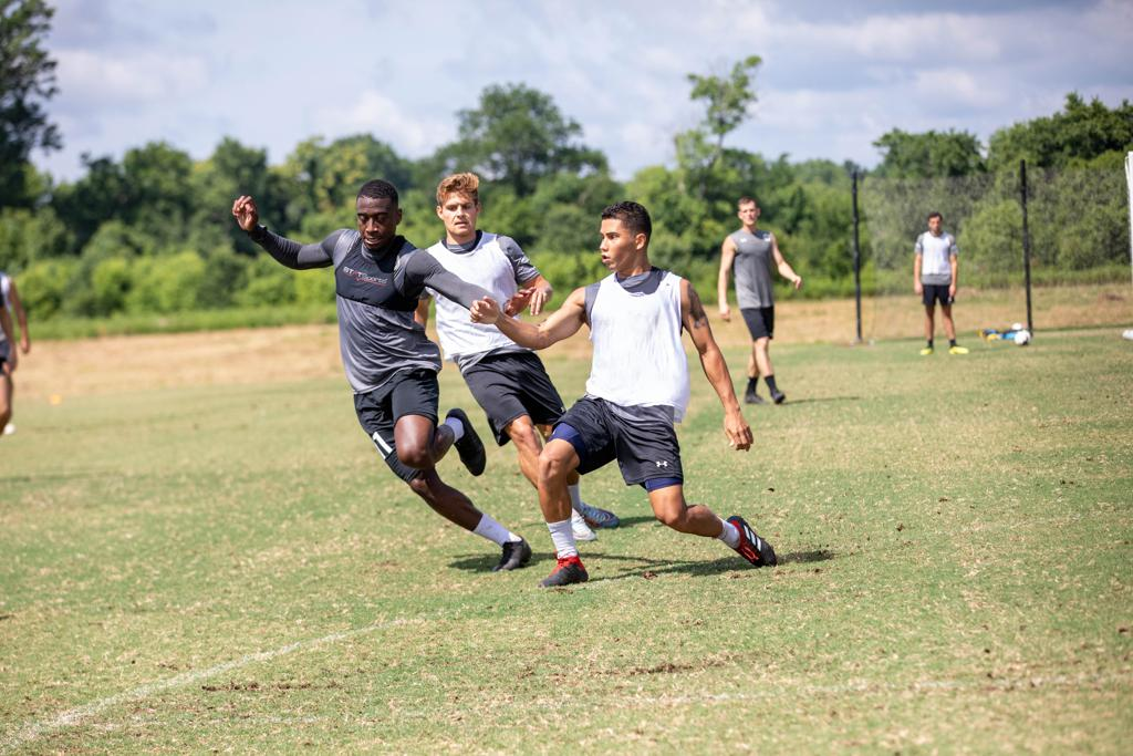 Nashville SC players in a training session