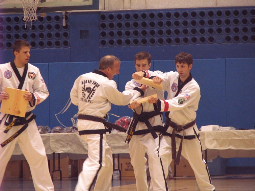 Breaking boards demonstration