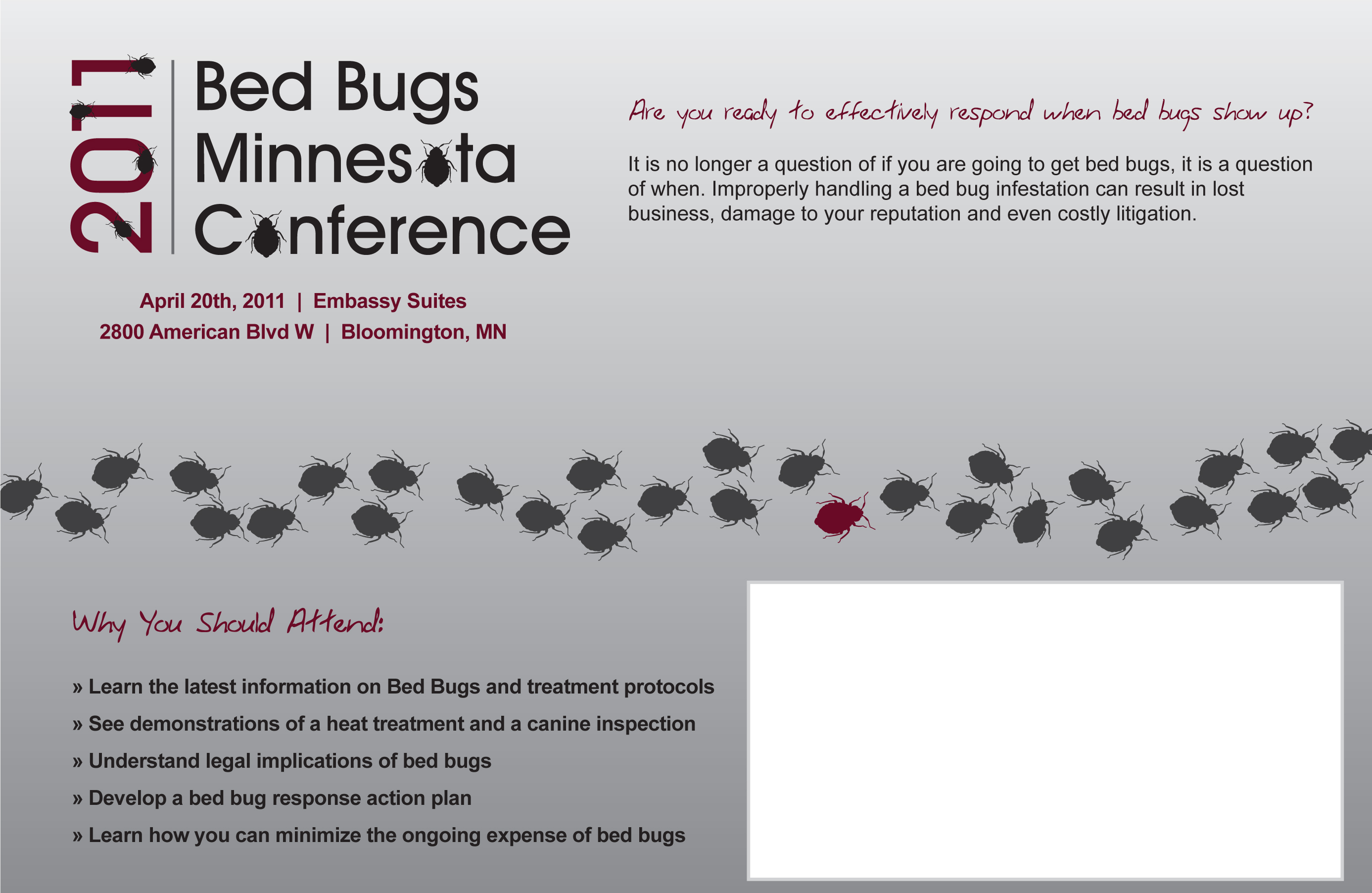 Bed Bug Conference Invitation Back