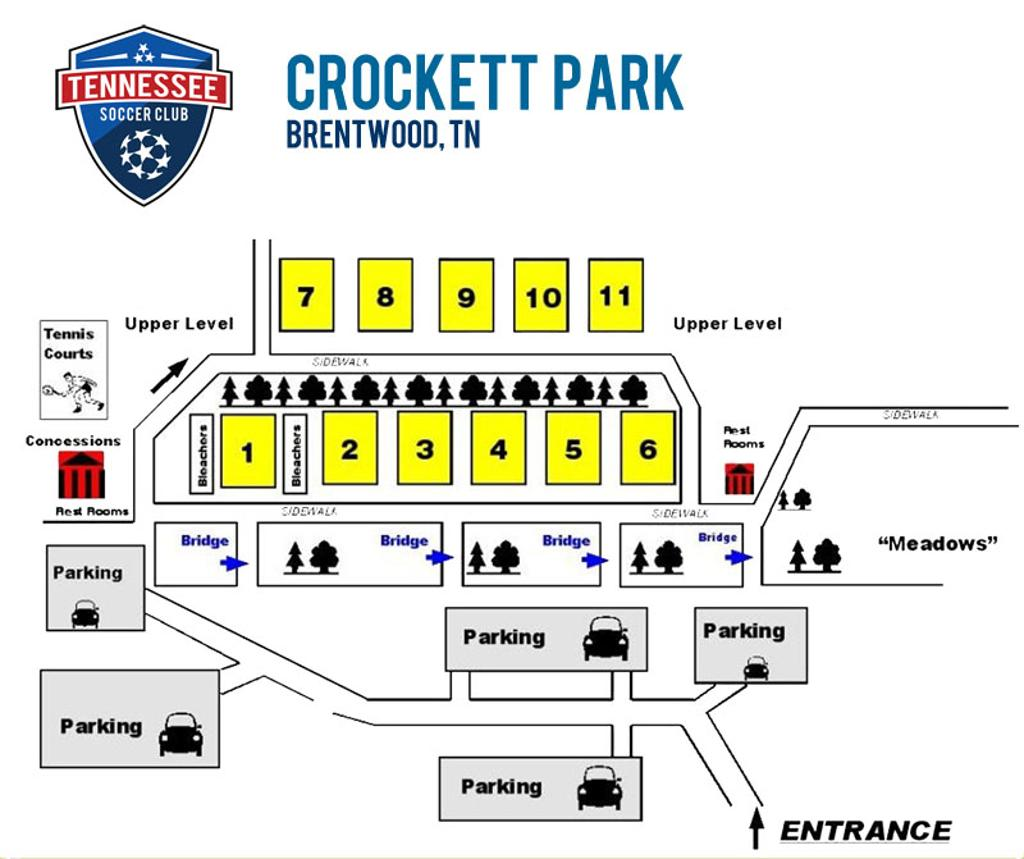Crockett Park Field Map