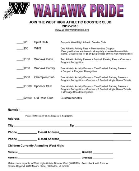 Get Your Athletic Booter Club Membership Now