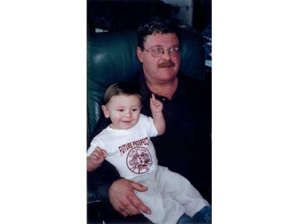 Grampa Jim Bensen & Baby Alex