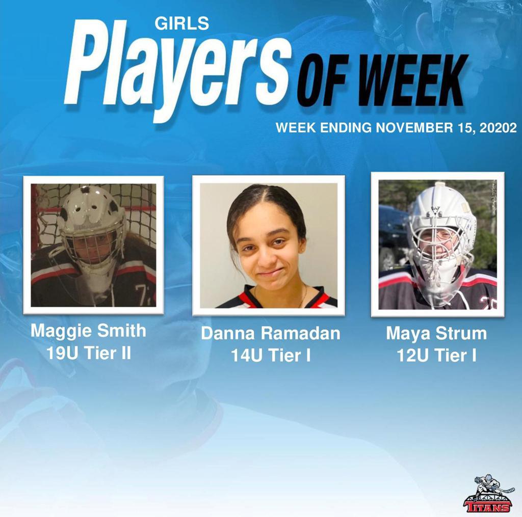 Titans announce Girls' Players of the Week for Week Ending November 15