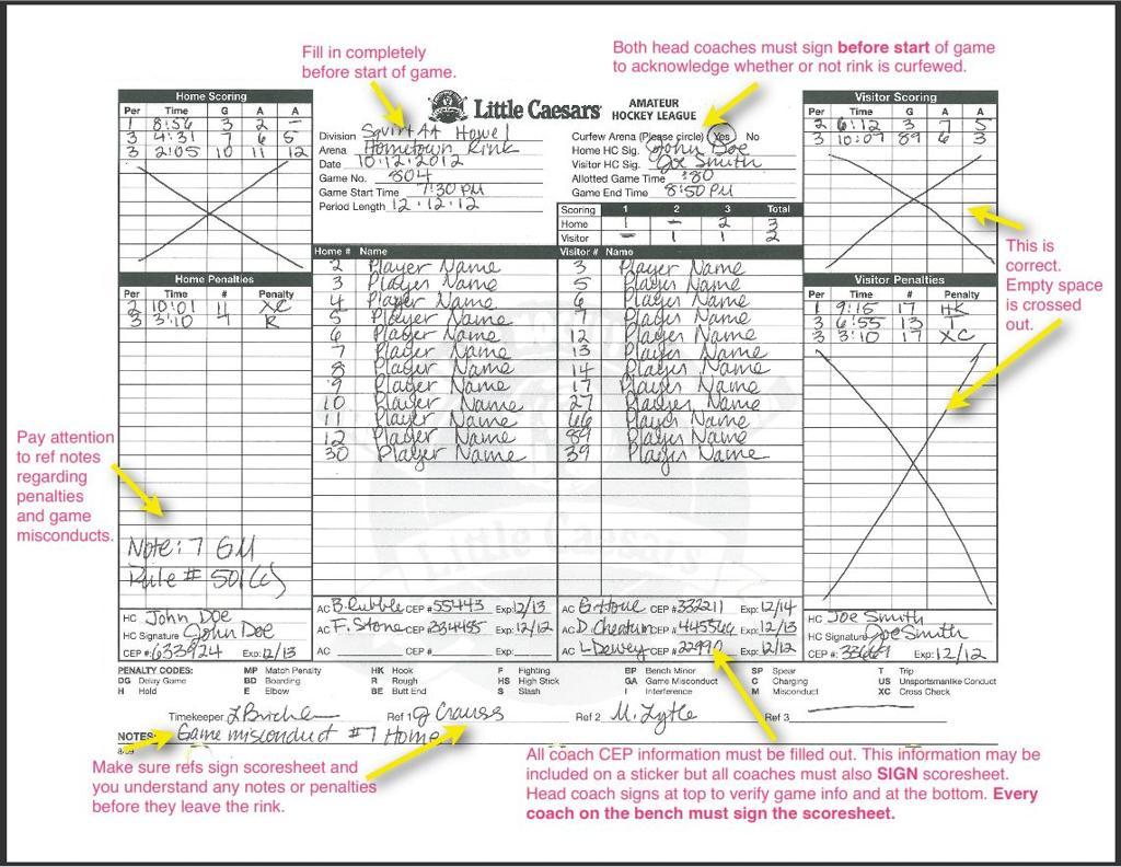 Hockey Score Sheet Printable Nayelialmabest