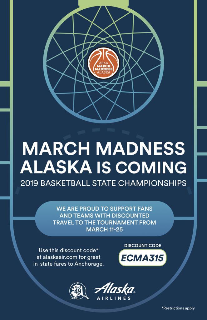Alaska Airlines 2019 Asaa March Madness Alaska Discount Code