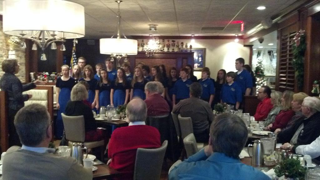 SAHS Chorale Visiting our Club