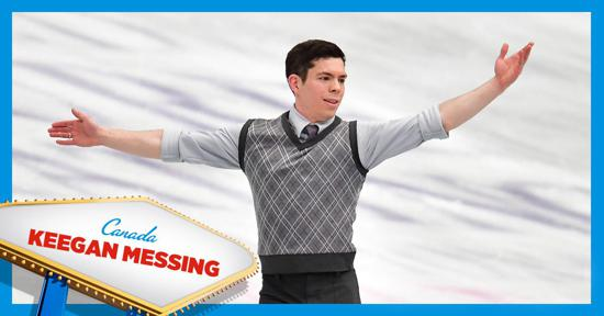 Skate America men's competitor - Keegan Messing of Canada