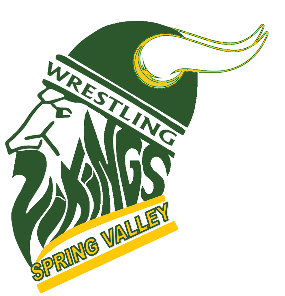 Viking head logo for wrestling team