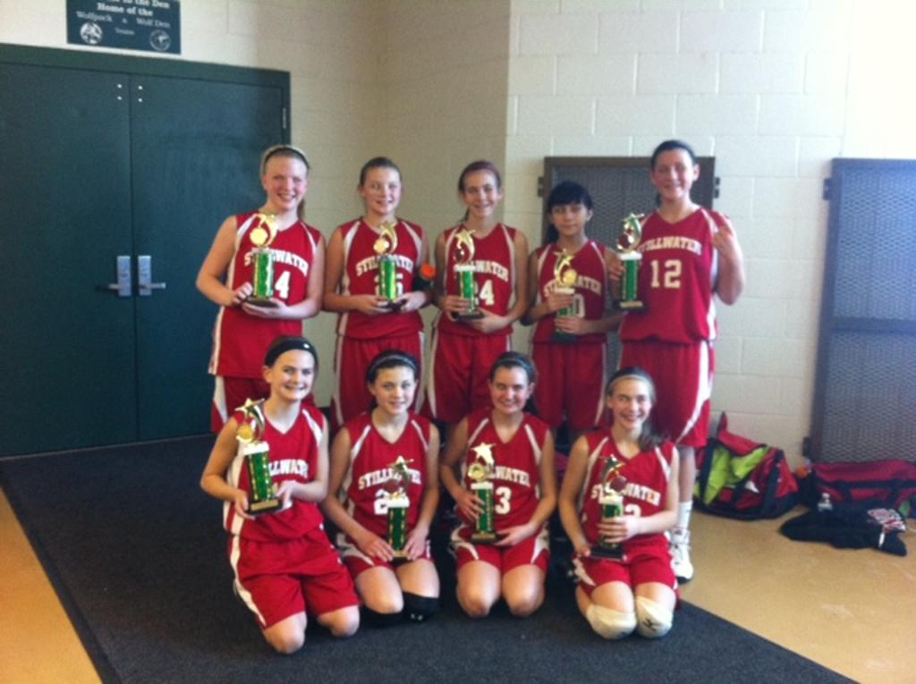 6th Grade A wins the Cottage Grove tourney, 3-0 on the weekend. (not pictured Sara Scalia)