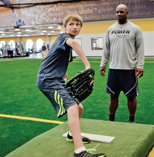 POWER Baseball Academy teaching pitcher