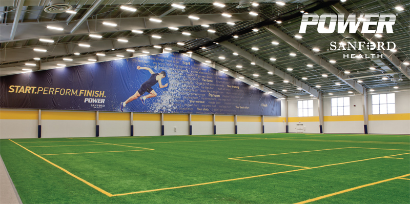 Sanford Fieldhouse turf indoors