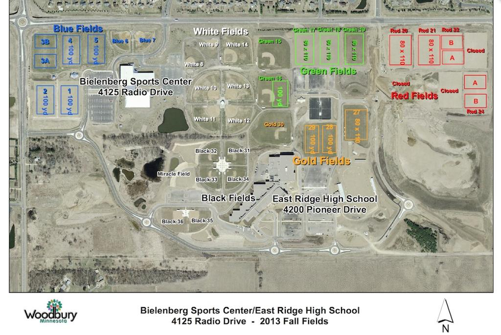 Bielenberg Sports Center Soccer Field Map Image Mag