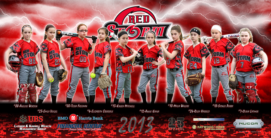 Team banners for Sports team photography templates