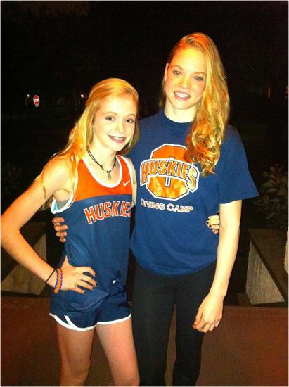 Oak Park-River Forest freshman Mary (left) has been a top runner for the cross-country team.
