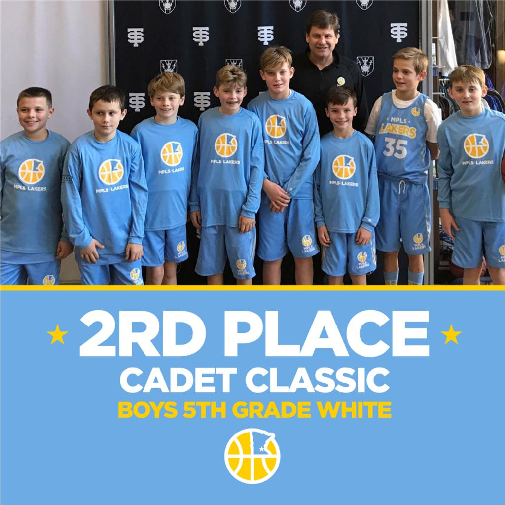 Boys 5th Grade White pose with their hardware after taking 3rd at Cadet Classic