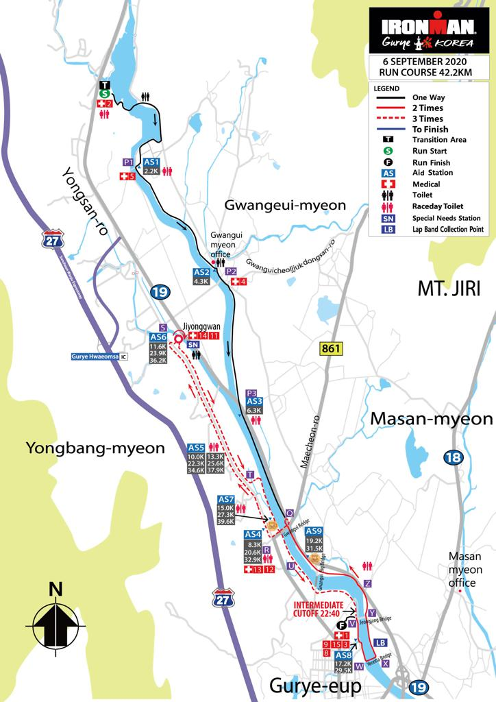 Run course map IM Gurye