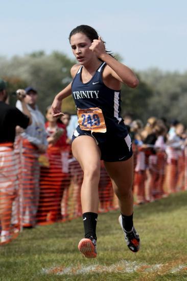 Junior Tatiana Nieves was Trinity's No. 2 finisher Saturday