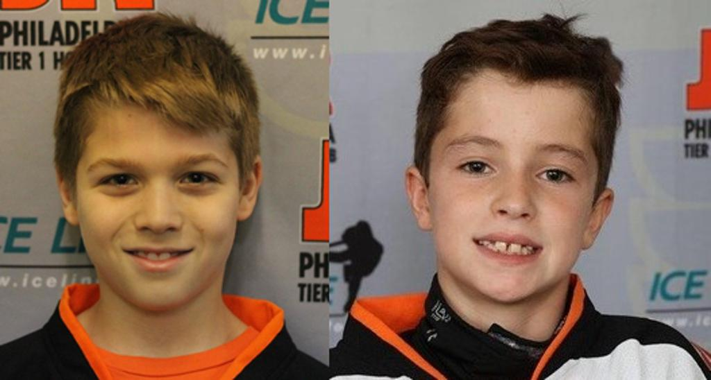 Jr. Flyers Squirt Spotlight for week ending December 2 features Riley Doyle and Jake Weingartner