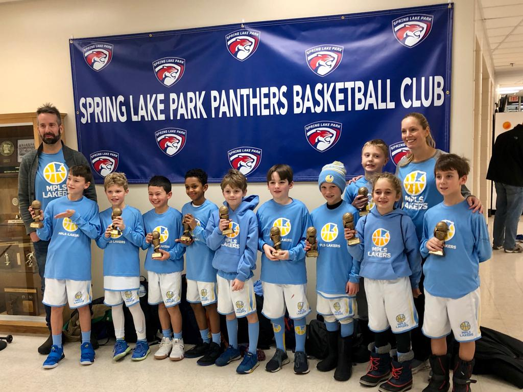 Boys 4th Grade Gold take 1st Place at Spring Lake Park Panther Classic. Way to go Champs! #MplsLakers #MplsLakersBasketball
