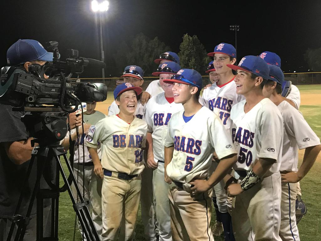 2018 14u Bears, being interviewed on Television after a big win!