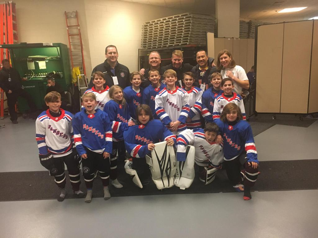 Squirt-AA getting ready to skate at MSG with the Rangers (11/23/2018)