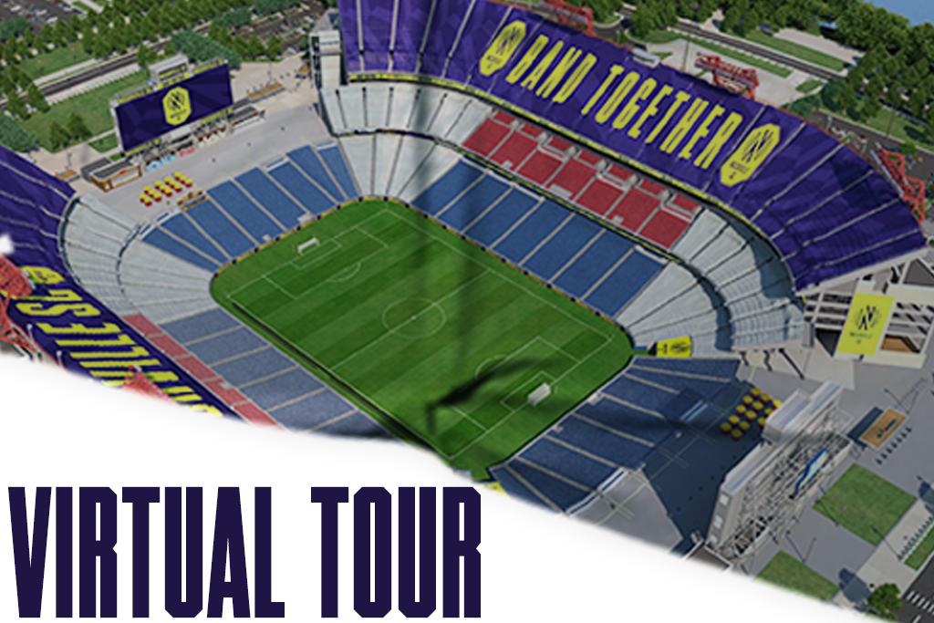 Nissan Stadium virtual tour for Nashville SC MLS season tickets