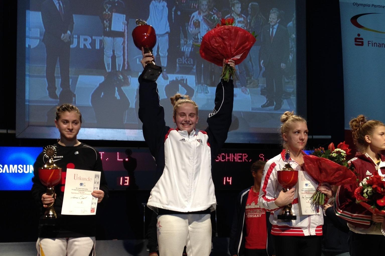 Stefani Deschner Wins Foil Gold In Tauber