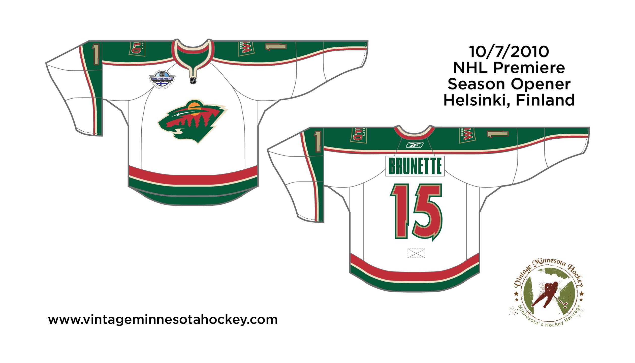 size 40 50811 69ec6 Minnesota Wild Uniform Evolution (2000-Present)