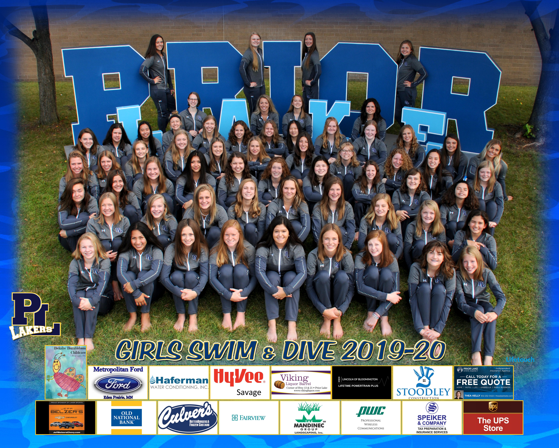 2019 Prior Lake High School Girls Swim & Dive Team