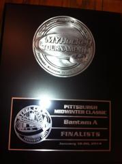 Pittsburgh Mid Winter Classic Bantam A Finalist Plaque