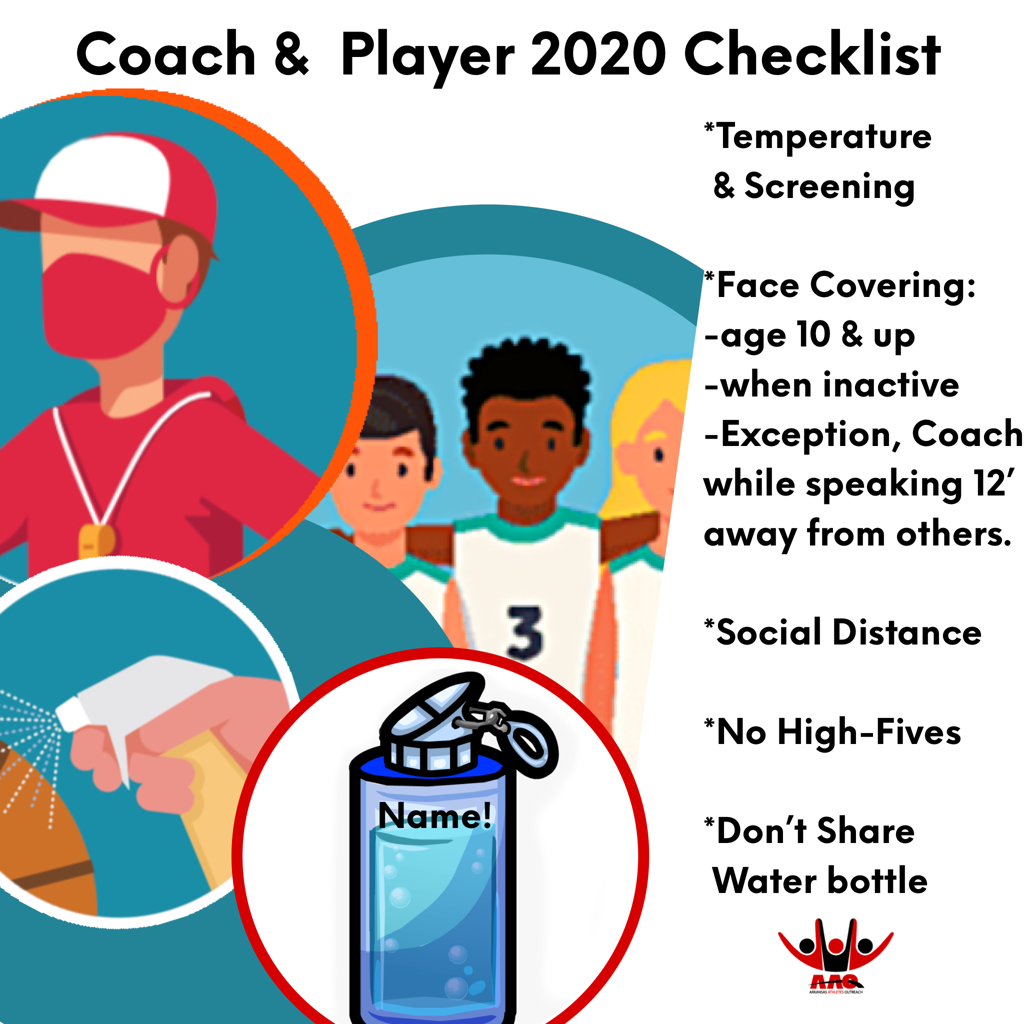 Field Coaches and Players Checklist