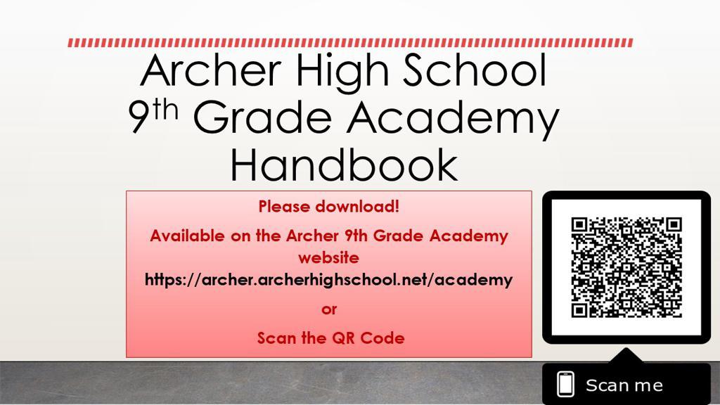 9th Grade Academy Handbook