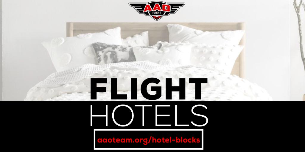AAO Flight Hotel blocks and information