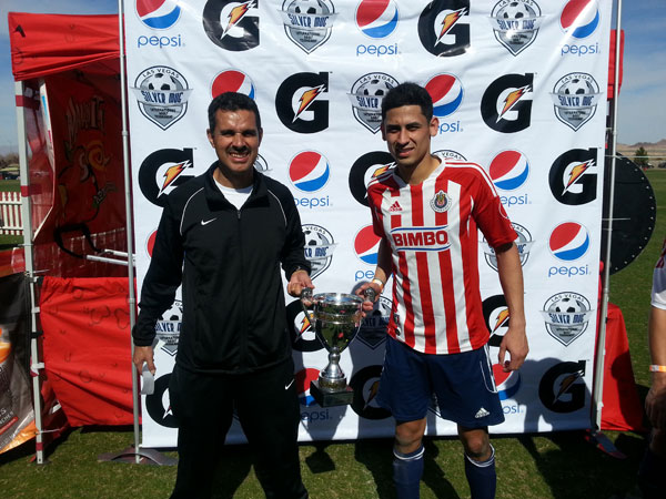 Coach David Campos and forward Oscar Montoya