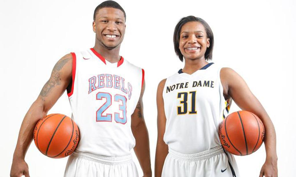 All-Blade prep basketball players Nate Allen and Tierra Floyd