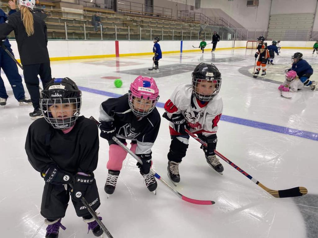 Children as young as 4 years old loving hockey
