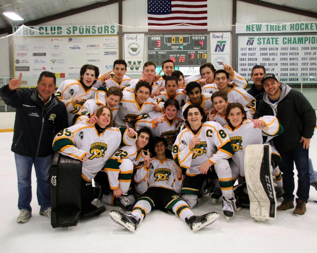 Congratulations to the JV Gold team for winning the New Trier Hockey Invitational tournament - Dec 2017