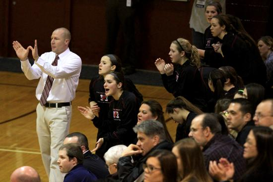Maine South girls basketball coach Mark Smith