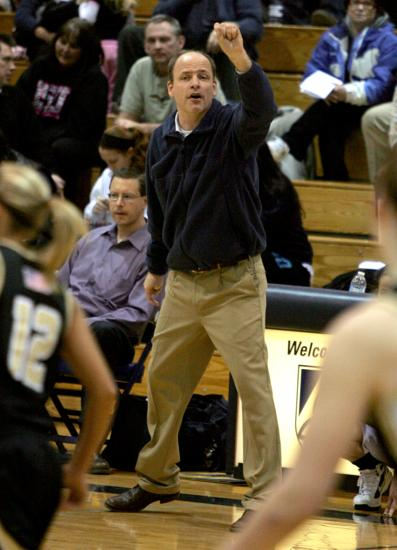 Trinity girls basketball coach Eddie Stritzel