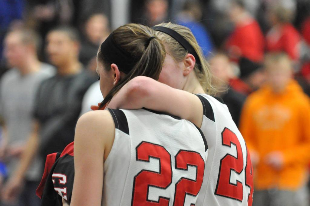 Two Hamilton Girls Basketball players